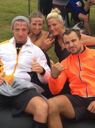 Vier Athleten des PSV JiuGraSta beim Tough Mudder run NRW 2016