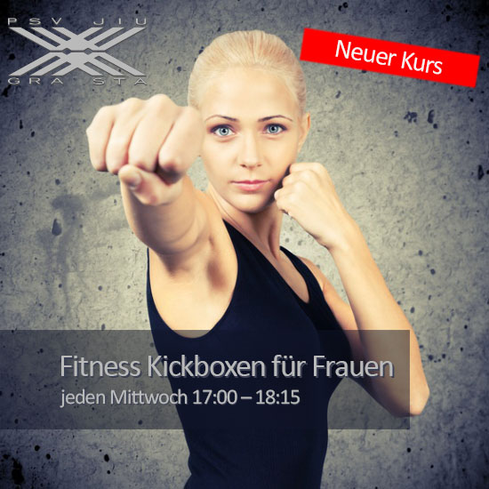 Fitness Kickboxen für Frauen Mittwochs 17:00 - 18:15
