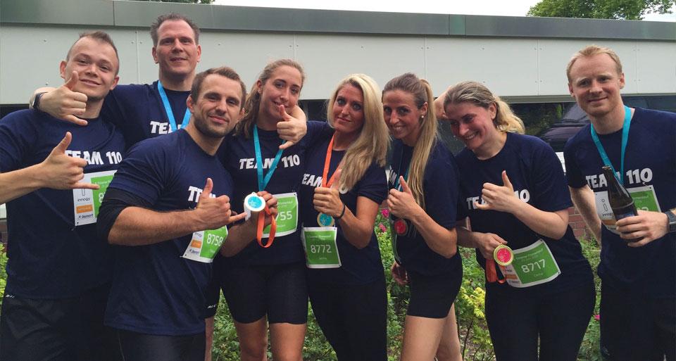 Das Team des PSV JiuGraSta beim Essener Firmenlauf 2016