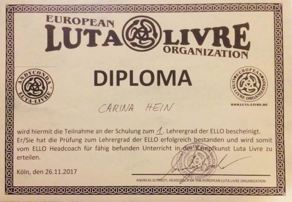Neue Luta Livre Lehrerin in deiner Kampfsportschule Essen